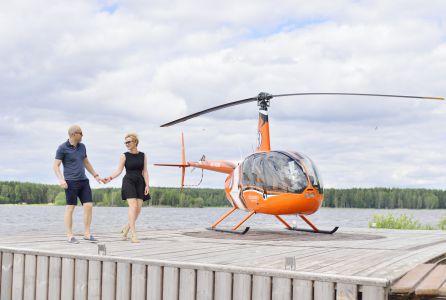 Вертолетная прогулка на Горьковское море
